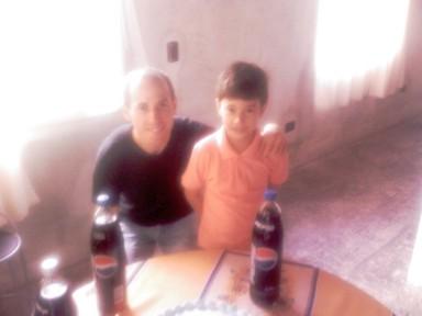 Rodrigo con Papá