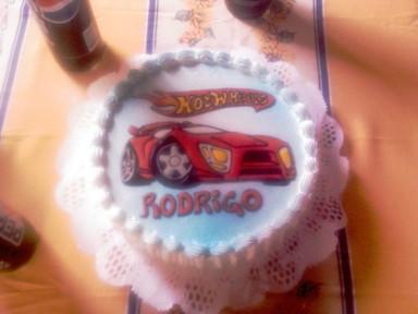 Segunda foto de la torta Hotwheels
